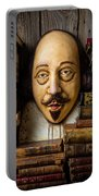Shakespeare With Old Books Portable Battery Charger