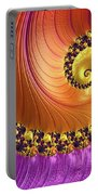 Shiny Purple And Gold Spiral Portable Battery Charger