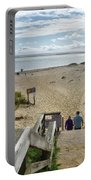 Shoreline Staircase By Uscg Station Chatham Cape Cod Massachusetts Portable Battery Charger