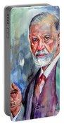 Sigmund Freud Portrait II Portable Battery Charger