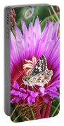 Skipper On Cactus Bloom Portable Battery Charger