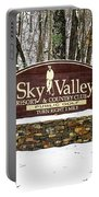 Sky Valley Georgia Welcome Sign In The Snow Portable Battery Charger