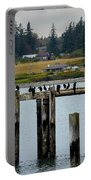 Small Village Along The Columbia River Portable Battery Charger by Mae Wertz