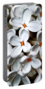 Small White Flowers Digital Portable Battery Charger