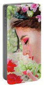Smelling The Roses Portable Battery Charger