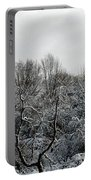 Snow Covered Trees Portable Battery Charger by Rose Santuci-Sofranko