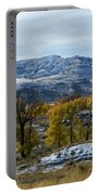 Snow Falls On Autumn Portable Battery Charger