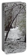 Snow In The Woods Portable Battery Charger