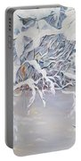 Snowy Branches In Neutrals Portable Battery Charger by Joanne Smoley