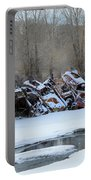 Snowy Graveyard Portable Battery Charger