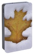 Snowy Oak Leaf Portable Battery Charger