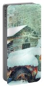 Softly Snowing On The Country Farm Portable Battery Charger