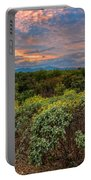 Sonoran Valley Sunset V1922 Portable Battery Charger by Mark Myhaver