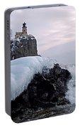 Split Rock Lighthouse Winter Portable Battery Charger