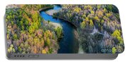 Springtime On The Manistee River Aerial Portable Battery Charger