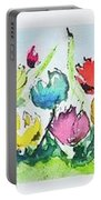 Springtime Tulips Portable Battery Charger by Wendy Ray