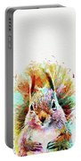 Squirrel Painting Portable Battery Charger