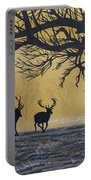 Stags At Dawn Portable Battery Charger