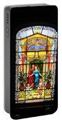 Stained Glass At Moody Mansion Portable Battery Charger