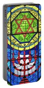 Star Of David Stained Glass Portable Battery Charger