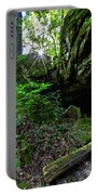 Starburst In The Woods Portable Battery Charger