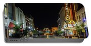 State Street With The Newly Lit Bristol Sign Portable Battery Charger