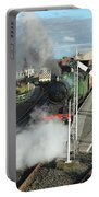 Steam Train Leaving Station Portable Battery Charger