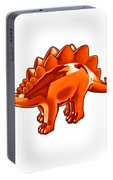 Stegosaurus Cartoon Portable Battery Charger