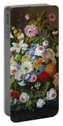 Still Life With Flowers Portable Battery Charger