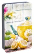 Still Life With Lemons Portable Battery Charger