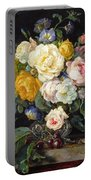 Still Life With Peonies  Portable Battery Charger