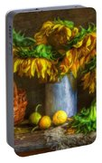Still Life With Sunflowers Portable Battery Charger
