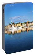 Stockholm Old City Sunrise Reflection In The Baltic Sea Portable Battery Charger