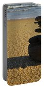 Stone Balance On The Beach Portable Battery Charger
