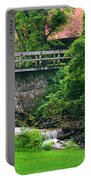Stone Bridge And Waterfall Landscape Portable Battery Charger