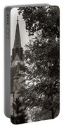 Stone Chapel - Black And White Portable Battery Charger