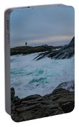 Storm At The Norwegian Coastline Portable Battery Charger