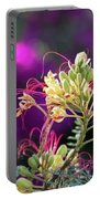 Stream Of Colored Highlights Leads To Yellow Bird Of Paradise Portable Battery Charger