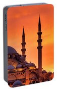 Suleymaniye Mosque At Sunset Portable Battery Charger