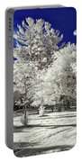 Summer Park In Infrared Portable Battery Charger