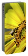 Sunflower And Bee Portable Battery Charger