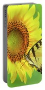 Sunflower And Swallowtail Portable Battery Charger
