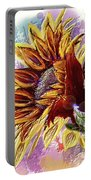 Sunflower In The Sun Portable Battery Charger by Darren Cannell