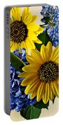 Sunflowers And Hydrangeas Portable Battery Charger
