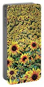 Sunflowers In Kansas Portable Battery Charger