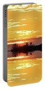 Sunset Behind The Tree Tops Two  Portable Battery Charger
