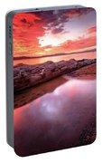 Sunset Harmony At Kiva Beach Portable Battery Charger