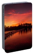 Sunset In Angkor Portable Battery Charger