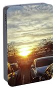 Sunset In Parking Lot 2 Portable Battery Charger