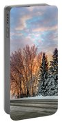 Sunset In Winter Portable Battery Charger